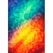 Abstract Colorful triangles geometry - Phone Case