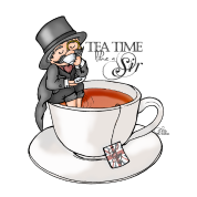 tea time like a Sir with Earl Grey (text)