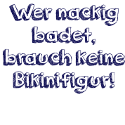 Baden nackig FKK