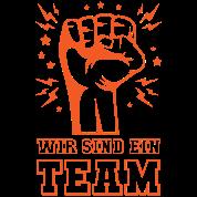 Motivation Wir Sind Ein Team Spruch Geschenk Frauen Premium T Shirt Schwarz