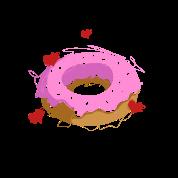 Pink Donut Heart Food Sketch Gift Men S Premium T Shirt Spreadshirt