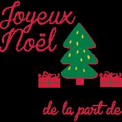 Joyeux Noel Réveillon Message Tablier Spreadshirt