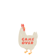Chicken Game | Funny Joke Design