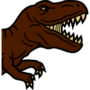half head roaring t rex tyrannosaurus dinosaur rex by style o mat
