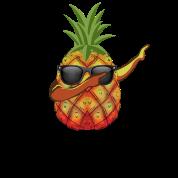 07f1177d06f0 Cool sjov dabbing ananas solbriller gave Premium T-shirt mænd ...