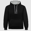 skater black back - Contrast Colour Hoodie