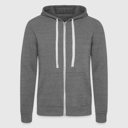 Unisex Tri-blend Hooded Jacket by Bella + Canvas - Front
