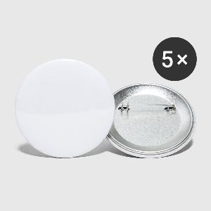 Buttons/Badges stor, 56 mm (5-pack) - Foran