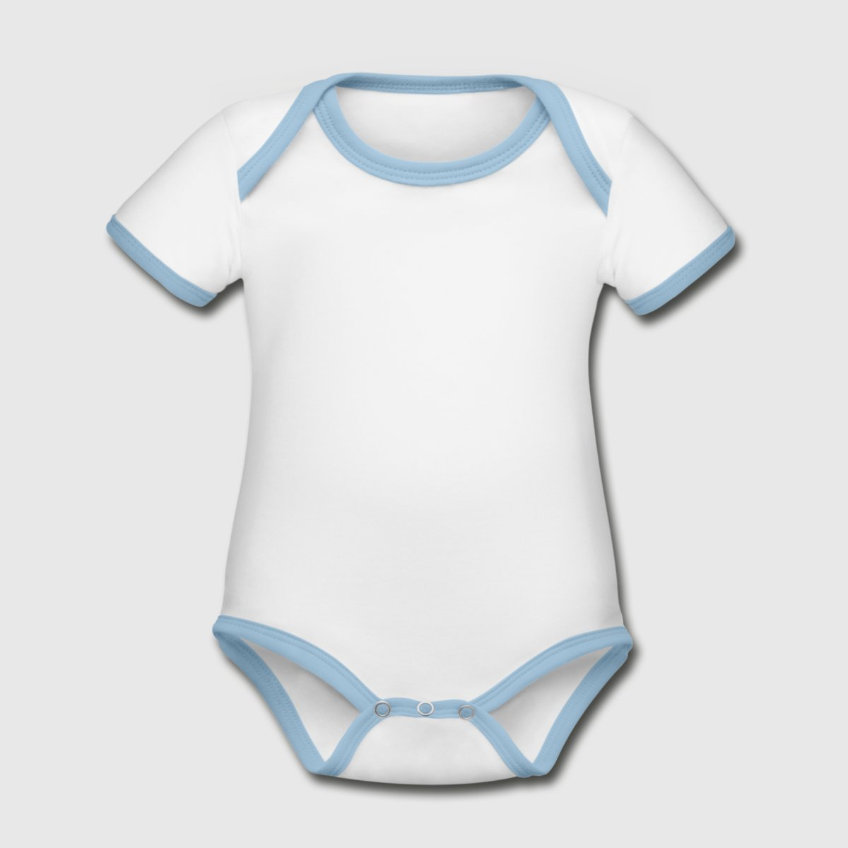 Organic Baby Contrasting Bodysuit - Front