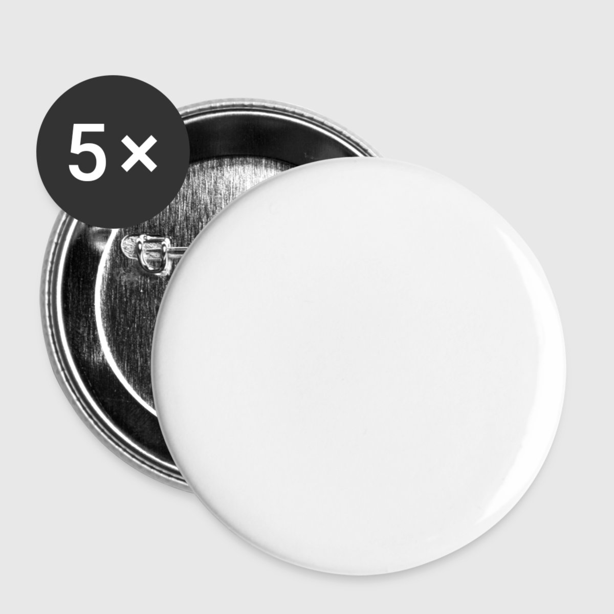Buttons/Badges lille, 25 mm (5-pack) - Foran