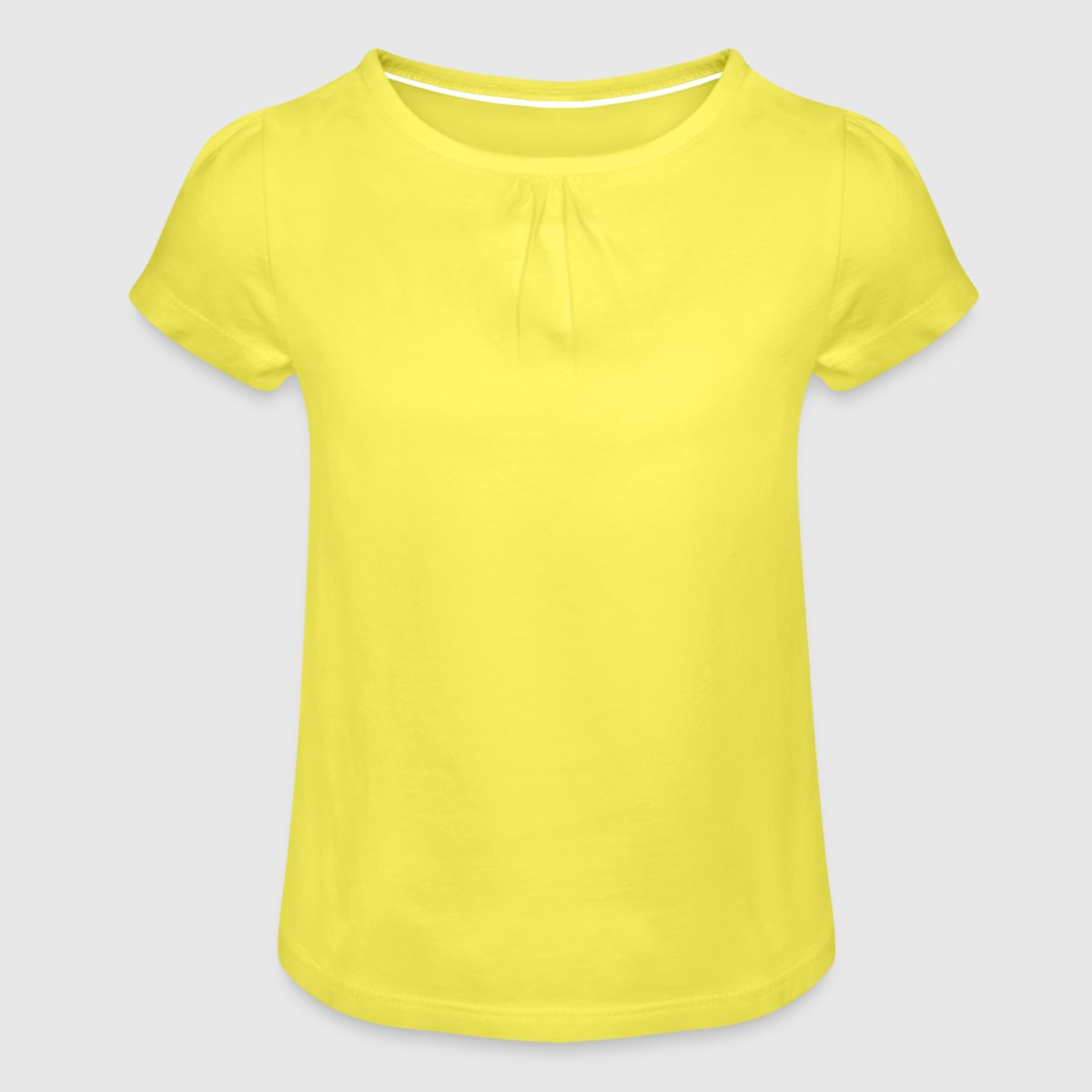 Girl's T-Shirt with Ruffles - Front