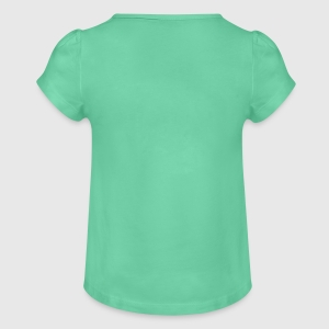 Girl's T-Shirt with Ruffles - Back