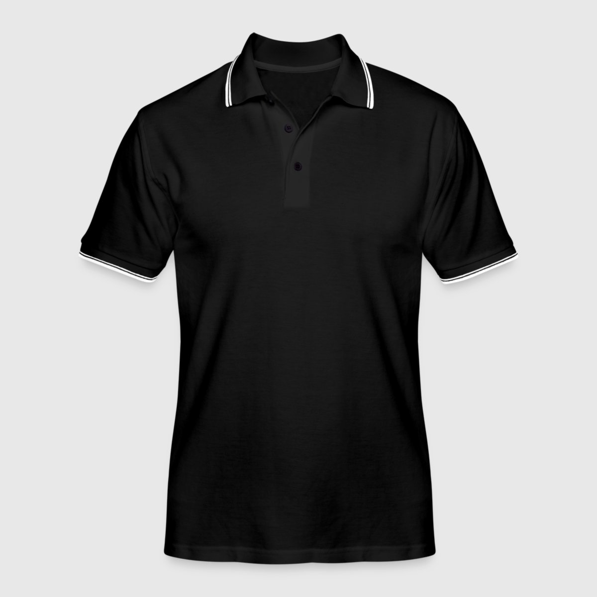 Tipped Poloshirt for menn - Foran