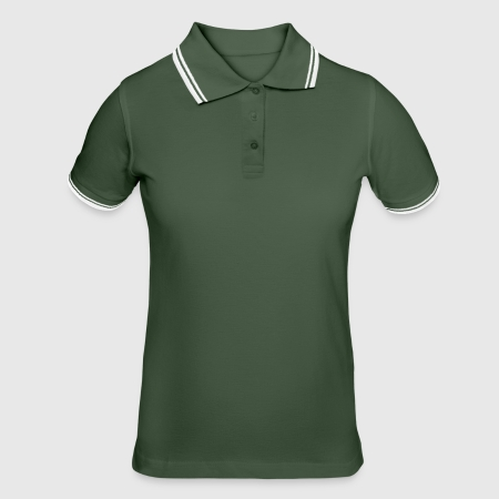 Women's Tipped Polo Shirt - Front