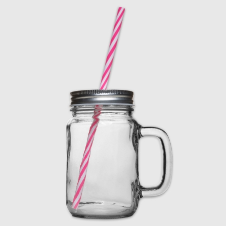 Glass jar with handle and screw cap - Right