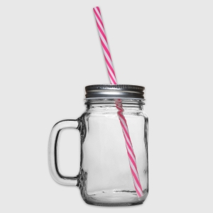 Glass jar with handle and screw cap - Left