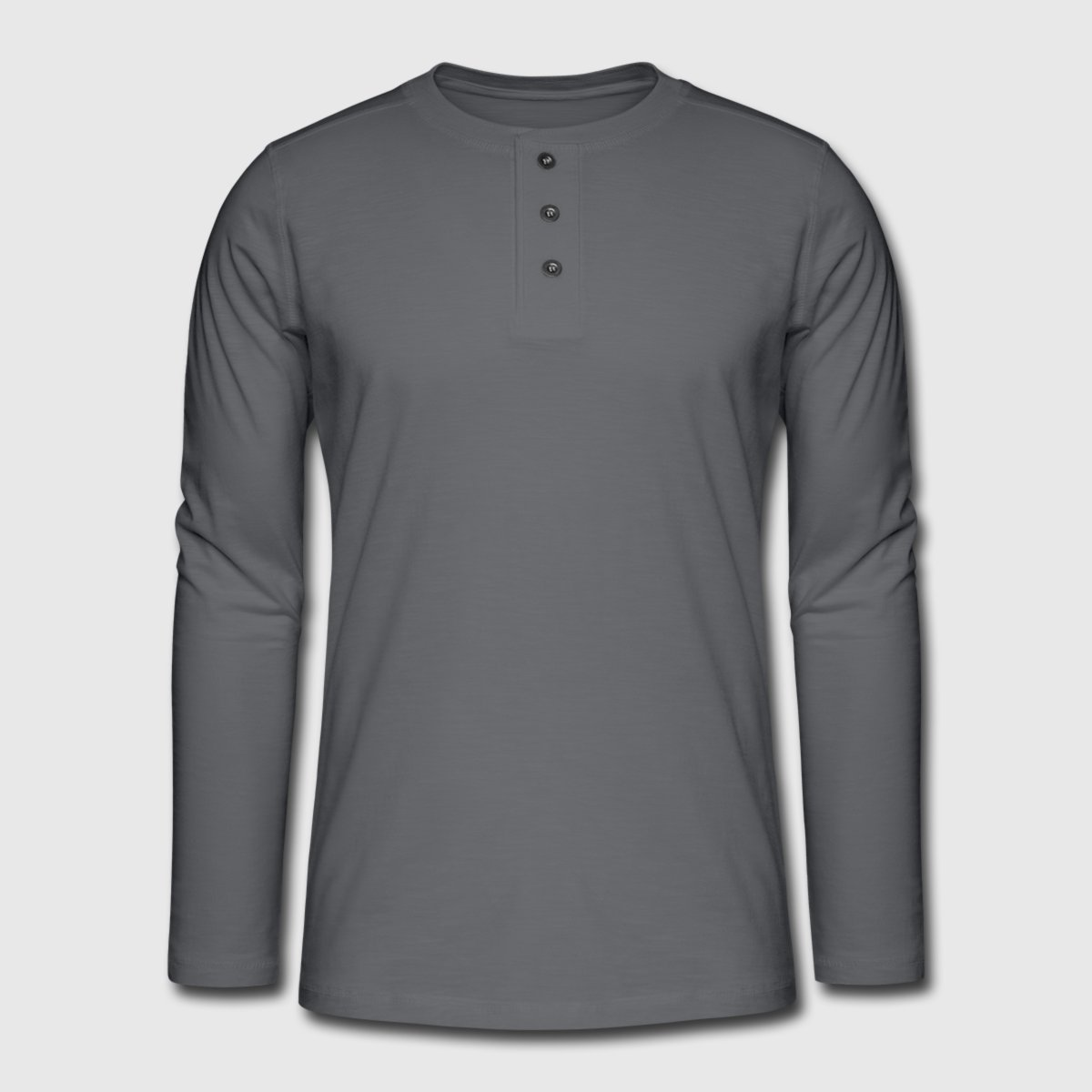 Henley long-sleeved shirt - Front