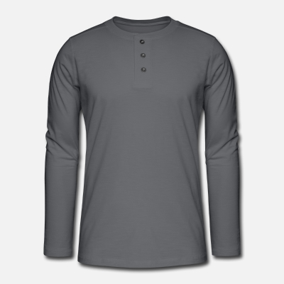Henley long-sleeved shirt