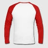 White/red Ninja Head Men's Longsleeves - Men's Long Sleeve Baseball T-Shirt