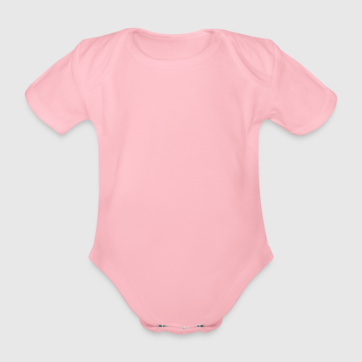 Organic Short-sleeved Baby Bodysuit - Front