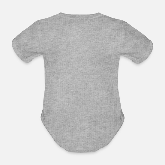 1st Birthday One With Crown Blue Gift Grandson Organic Short Sleeved Baby Bodysuit