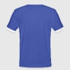 Blue/white retro gamer Men's T-Shirts - Men's Ringer Shirt