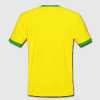 smoking university jamaica - Mannen contrastshirt