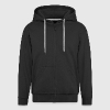 Smart Brain Zipped Hoodie w.backprint - Men's Premium Hooded Jacket
