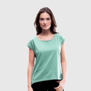 Women's T-Shirt with rolled up sleeves - Front