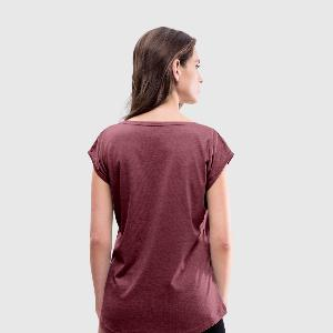 Women's T-Shirt with rolled up sleeves - Back