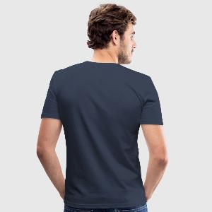 Mannen slim fit T-shirt - Achter