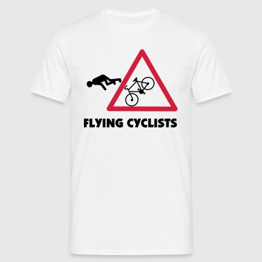 Blanc Flying Cyclist T-shirts - T-shirt Homme