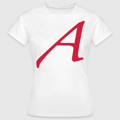 Atheism Scarlet Letter A Symbol - Women's T-Shirt