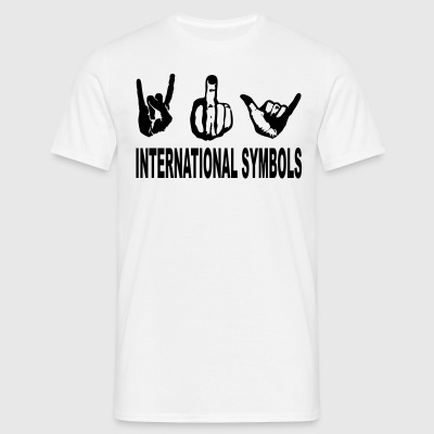international symbols T-Shirts - Männer T-Shirt