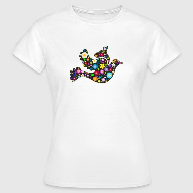 Flower Power floral bird of peace T-Shirts - Women's T-Shirt