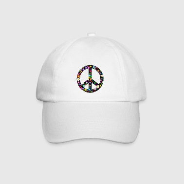 Flower Peace Sign Caps & Hats - Baseball Cap