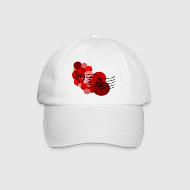 Red Music notes and polka dots Caps & Hats - Baseball Cap