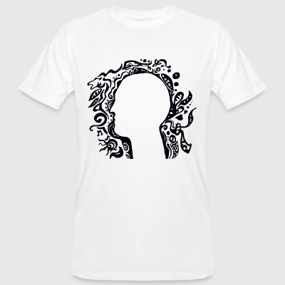 Black and white Tribal Head Silhouette T-Shirts - Men's Organic T-shirt