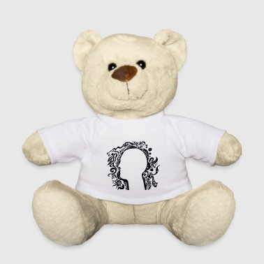 Black and white Tribal Head Silhouette Teddies - Teddy Bear