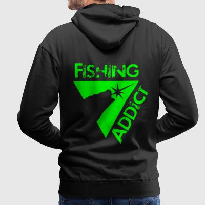 Fishing addict Sweat-shirts - Sweat-shirt à capuche Premium pour hommes
