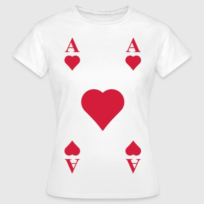 ace of hearts, playing card  T-Shirts - Women's T-Shirt