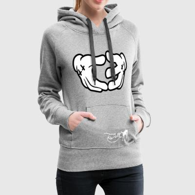 Gris chiné Colt - Geste de la main Sweat-shirts - Sweat-shirt à capuche Premium pour femmes