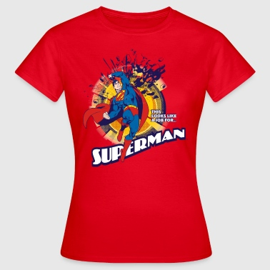 Superman T-Shirt Job für Frauen  - Frauen T-Shirt