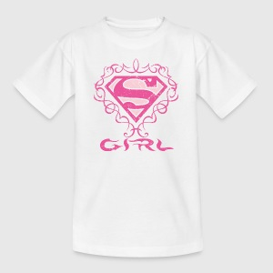 Tee-shirt Enfant Superman S-Shield Girl 1 - T-shirt Enfant