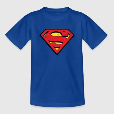 Superman S-Shield Used Look 1 T-shirt barn - T-shirt barn