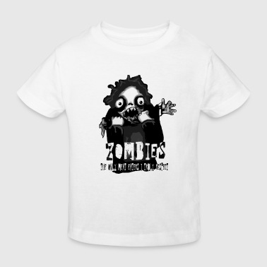 zombies - the only meat eaters i truly respect sv text.png T-shirts - Ekologisk T-shirt barn