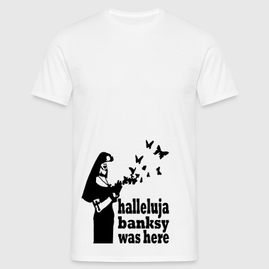 halleluja banksy was here - Men's T-Shirt