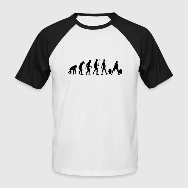 Bodybuilder Evolution - Men's Baseball T-Shirt