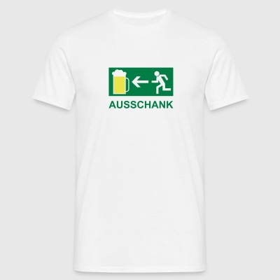 T-Shirt Mann Ausschank links 03 © by kally ART® - Männer T-Shirt