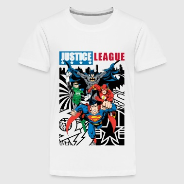 Justice League Statue Mix - Teenager Premium T-shirt